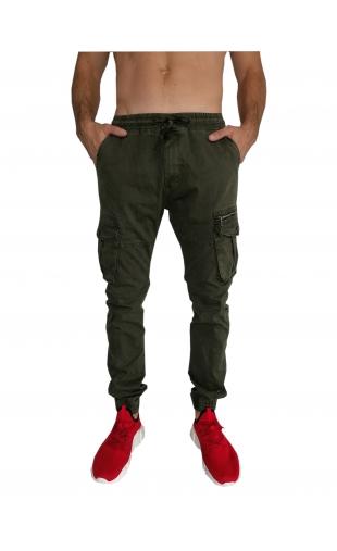 Spodnie joggery oliwkowe T1