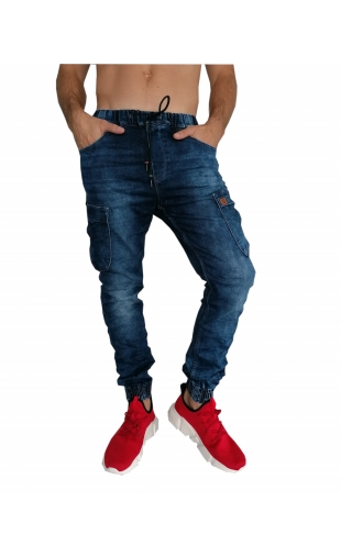 Spodnie jeansowe joggery T4