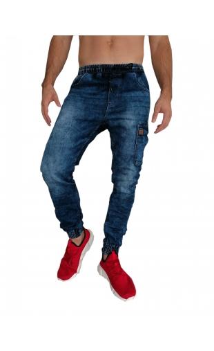 Spodnie jeansowe joggery T5