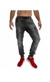 Spodnie jeansowe szare joggery T6