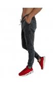 Spodnie jeansowe szare joggery T7