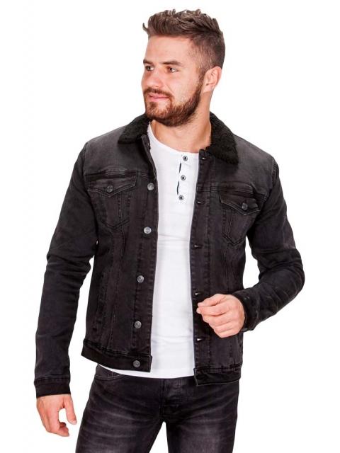 Kurtka jeansowa czarna DD-1