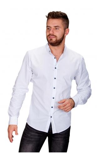 Koszula męska biała stójka Z-2