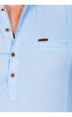 Koszula męska błękitna stójka MB-3