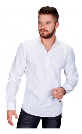 Koszula męska biała stójka MB-001
