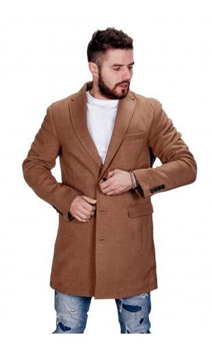 Płaszcz zimowy camelowy fm001