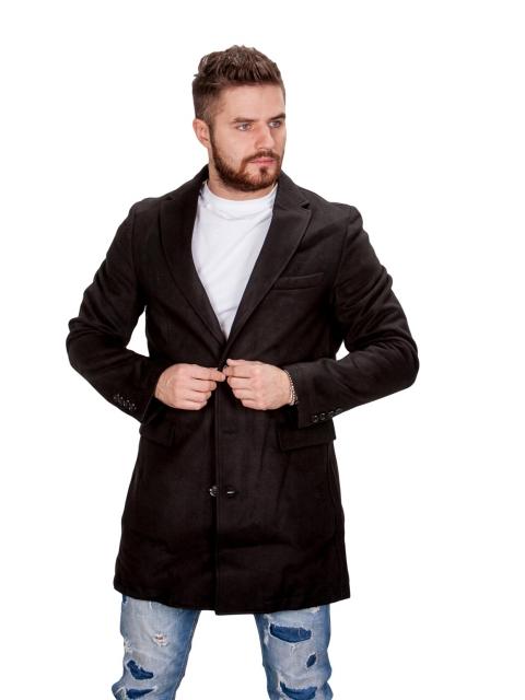 Płaszcz zimowy czarny fm001