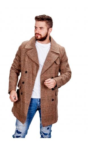 Płaszcz zimowy brązowy fm002
