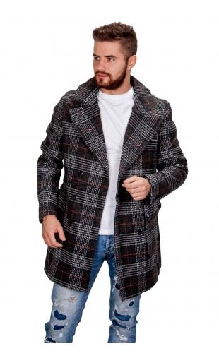 Płaszcz zimowy czarny fm002