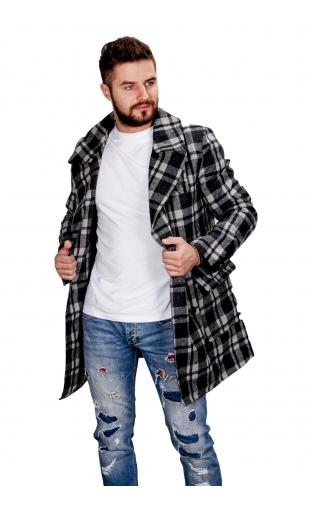 Płaszcz zimowy czarny fm002A