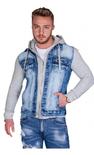 Kurtka męska jeansowa m.sara