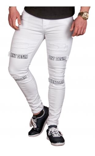 Spodnie Jeansowe męskie białe ka1202-12