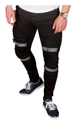 Spodnie Jeansowe męskie czarne ka1202
