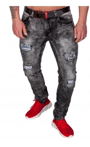 Spodnie ciemno szare rurki rt6939