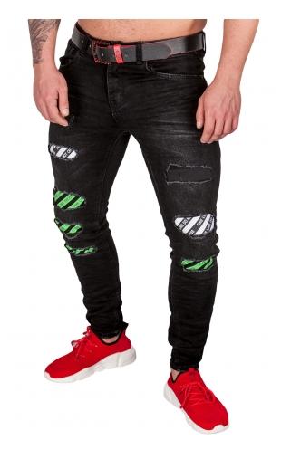 Spodnie Jeansowe męskie czarne ka1865