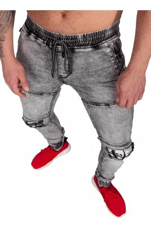 Spodnie Jeansowe joggery męskie E7083