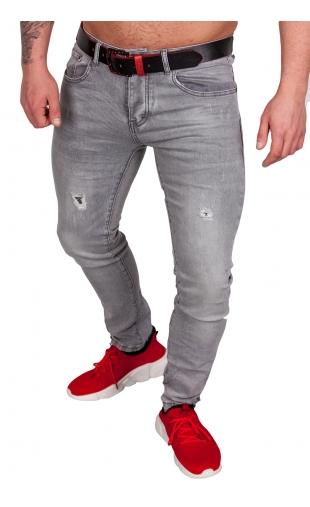 Spodnie jeansowe szare ly-9082