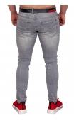 Spodnie jeansowe szare by-2311