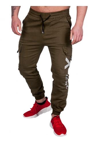 Spodnie joggery zielone ka1910-1