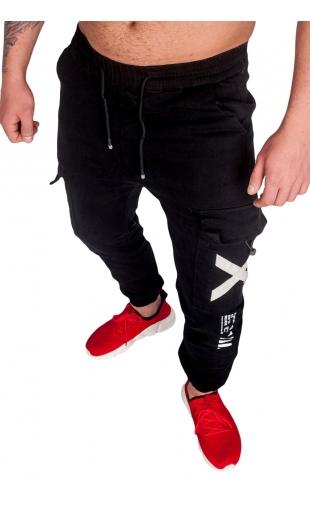 Spodnie joggery czarne ka1910