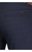 Spodnie wizytowe ciemny granat w kratę 2004