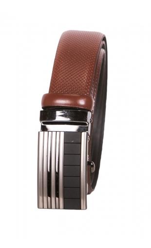 Pasek skórzany męski brązowy automat bremi-42