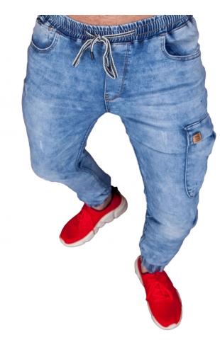 Spodnie jeansowe joggery T995
