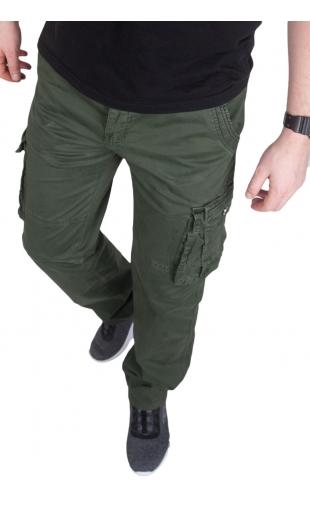 Spodnie bojówki zielone CT8901-2