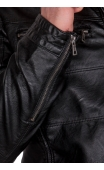 Kurtka skórzana męska czarna 9171