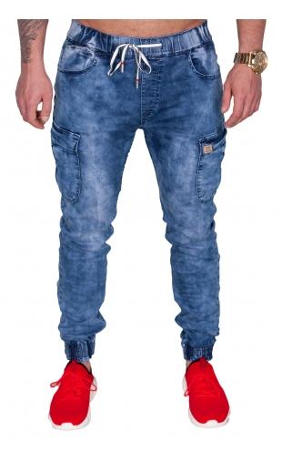 Spodnie joggery jeansowe t992