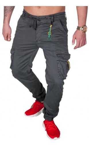 Spodnie joggery grafitowe 8952-5