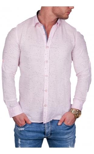 Koszula męska różowa mcl27 100% Naturalna