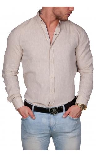 Koszula męska grafit 7619 100% naturalne