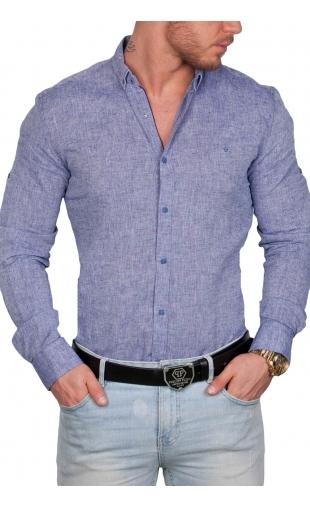 Koszula męska błękitna 7619 100% naturalne