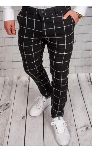 Spodnie męskie chinosy materiałowe czarne DJ-3