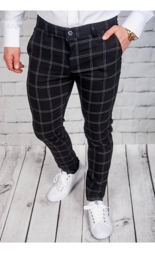 Spodnie męskie chinosy materiałowe czarne DJ-2