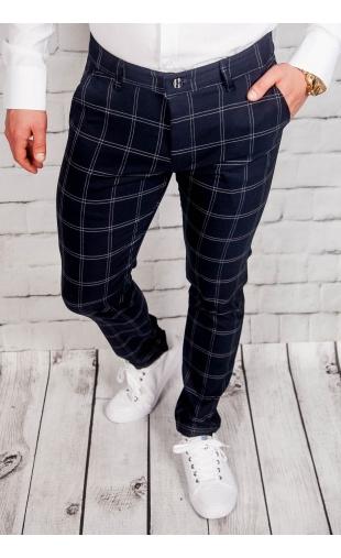 Spodnie męskie chinosy materiałowe granatowe DJ-2
