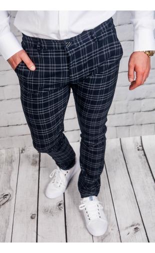 Spodnie męskie chinosy materiałowe granatowe DJ-1