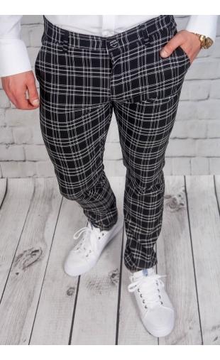 Spodnie męskie chinosy materiałowe czarne DJ-1