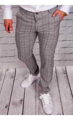 Spodnie męskie chinosy materiałowe szare DJ-5
