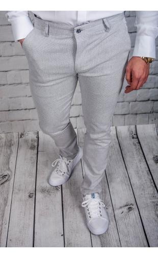 Spodnie męskie chinosy materiałowe szare DJ-6