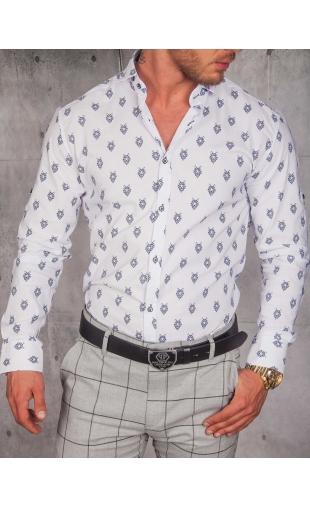 Koszula Męska Biała wzory