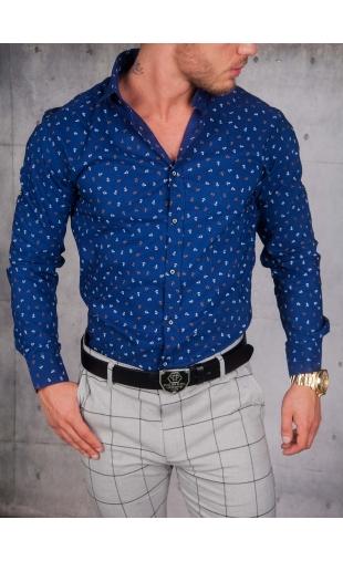 Koszula Niebieska wzory