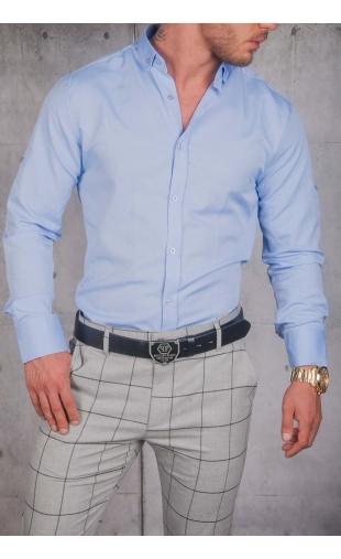 Koszula Męska błękitna gładka