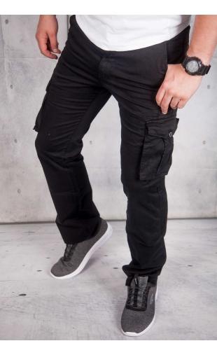 Spodnie męskie bojówki czarne