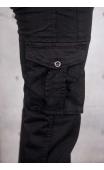 Spodnie męskie bojówki iteno wiosna czarne