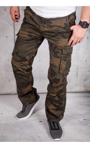 Spodnie bojówki moro brąz CT8901-2