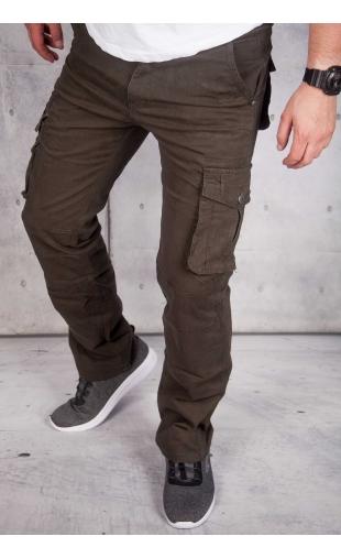 Spodnie męskie bojówki oliwkowe