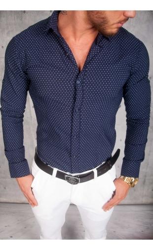 Koszula Męska granatowa wzory