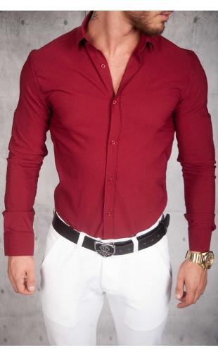 Koszula Męska wiśniowa